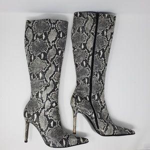 Colin Stuart Snakeskin Tall Boots